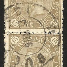 VARIETATI-- ROMANIA PERECHE ,, CIFRA IN 4 COLTURI ,,--1890