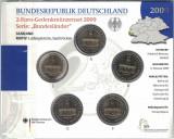 GERMANIA  - Set 5 buc x 2 Euro 2009 - A D F G J  Bundeslander - set sigilat, Europa