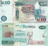 Zambia 10 Kwacha 2012 UNC