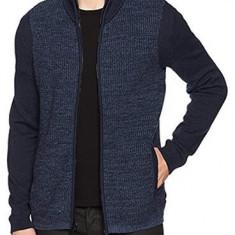 Bluza cu fermuar Calvin Klein Jeans masura S si ML (colectie 2018) - Bluza barbati Calvin Klein, Culoare: Albastru, Cu fermoar, Bumbac
