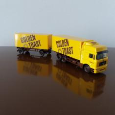 SCHUCO MAN camion cu remorca, scara 1/87, 1:87