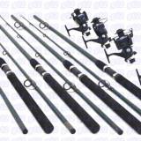 Set pescar 4 lansete POWER 3m, 4 mulinete DA6000, 6 rulmenti, baitrunner
