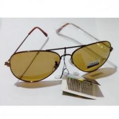 Ochelari polarizati oglinda tenta maron tip Police sau Aviator, Unisex, Protectie UV 100%