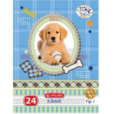 Caiet A5 Herlitz, Tip I, 24 file, Motiv Pretty Pets