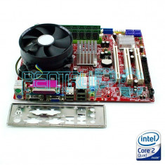 Kit Placa de baza MSI+Intel Core 2 Quad Q9505 2.83GHz+4GB DDR2+Cooler GARANTIE !, Pentru INTEL, LGA775, Contine procesor, MicroATX