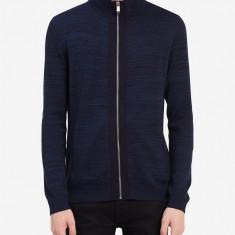 Bluza cu fermuar Calvin Klein Jeans masura M L (colectie 2018) - Bluza barbati Calvin Klein, Marime: M, Culoare: Albastru, Cu fermoar, Bumbac