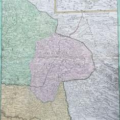 HARTA FINIS HUNGARIAE VICTORIIS CAROLI VI, PRINCIPATUL TRANSILVANIEI, DUPA 1718 - Harta Romaniei