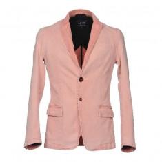 Sacou de lux Armani 100% de culoare roz - Jacheta barbati, Marime: M