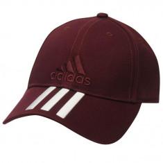 Șapcă Adidas Performance 3 Stripes Visinie - Sapca Barbati Adidas, Marime: Marime universala, Culoare: Visiniu