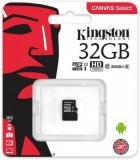 Card de memorie Kingston Canvas Select microSDXC, 32 GB, 80 MB/s Citire, 10 MB/s Scriere, Clasa 10 UHS-I