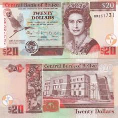 Belize 20 Dollars 01.01.2012 Comemorativa UNC - bancnota america