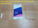 Husa silicon fata +spate trasparent samsug galaxy J5.2017