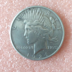 Moneda argint ONE DOLLAR 1924, America de Nord