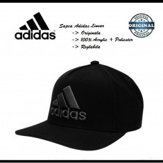 Sapca Adidas Linear - Originala - Reglabila - Acryl+Poliester - Detalii anunt - Sapca Barbati Adidas, Marime: Marime universala, Culoare: Negru