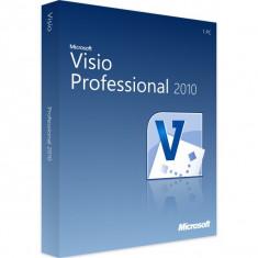 Microsoft Visio Professional 2010 - in limba Romana sau Engleza - Aplicatie PC