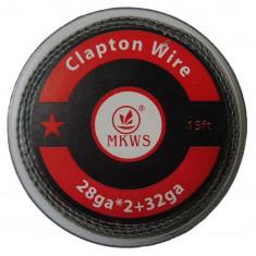 Sarma pentru rezistente Clapton Wire 0.4mm+0.2mm rola 5m