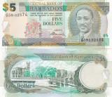 Barbados 5 Dollars 02.05.2012 Sig. Dr. DeLisle Worrell UNC