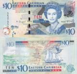 Insulele Caraibe 10 Dollars 2016 UNC