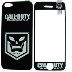 Folie protectie cu design iPhone 5 - Call of Duty Black Ops 2 ( fata + spate ) - Folie protectie tableta