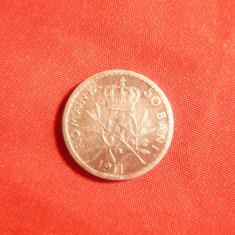 Moneda 50 bani 1911 Carol I argint ,cal.buna-f.Buna ,muchie rotunjita
