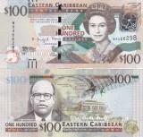 Insulele Caraibe 100  Dollars 2016 UNC