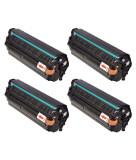 Set 4 HP Q2612X,Toner Compatibil HP LaserJet 1010,1012,1015,1018,1020,1022,1022