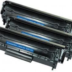 Set 3 HP Q2612A, Toner Compatibil HP LaserJet 1022, 1022 N, 1022, Laserjet 3000, 3015
