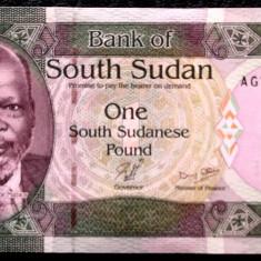 South Sud Sudan 1 Pound 2011 UNC necirculata  **