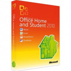 Microsoft Office Home and Student 2010 - in limba Romana sau Engleza - Aplicatie PC