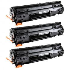 Set 3 HP CB435A-CRG712, Toner Compatibil HP 1002, HP1003, HP1004, P1005, P1006, P1007