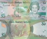 Insulele Cayman 5 Dollars 2010 UNC