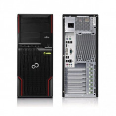 Workstation Fujitsu Celsius W510 Tower, Intel Quad Core Xeon E3-1225 3.1GHz, 8 GB DDR3, 500 GB HDD SATA, DVD-ROM, Windows 10 Home, 3 Ani Garantie