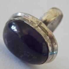 Inel argint vintage cu ametist -4170