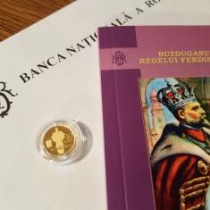 Istoria Aurului -- Buzduganul Regelui Ferdinand -- Moneda 10 Lei 2016 -- Aur - Moneda Romania