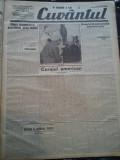 Ziare vechi - Cuvantul - Nr. 2842, 23 mar 1933, 8 pag, Nae Ionescu, M. Sebastian, Nae Ionescu