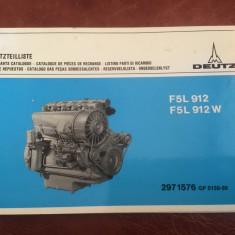 Brosura / lista piese de schimb Deutz model F5L912 si F5L912W l. germana 66 pag