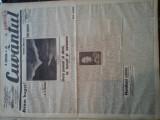 Ziare vechi - Cuvantul - Nr. 2824, 5 mar 1933, 8 pag, Nae Ionescu, I. Calugaru, Nae Ionescu