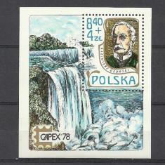 POLONIA 1978 – CASCADA, colita MNH, TR2