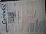 Ziare vechi - Cuvantul - Nr. 2772, 12 ian 1933, 8 pag, Nae Ionescu, O. Onicescu