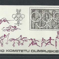POLONIA 1979 – JOCURI OLIMPICE,  colita MNH, TR4