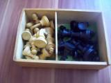 Piese  de  sah  - lemn - noi +  joc  Muhle  und  Dame