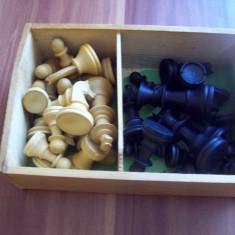 Piese de sah - lemn - noi + joc Muhle und Dame - Piese sah