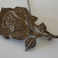 Brosa argint cu marcasite -4188
