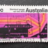 Australia - Calea ferata Sidney-Perth 1970, stampilat