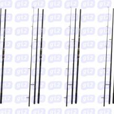 Set de 4 lansete Crap WOLF ZOOM 3,9m CARBON 100%