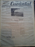Ziare vechi - Cuvantul - Nr. 2831, 12 mar 1933, 8 pag, Nae Ionescu, Perpessicius