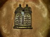 Iudaica! Tora zece porunci iudaice, bronz, Israel, colectie, vintage
