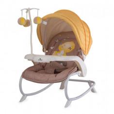 Fotoliu balansoar, Dream Time cu masuta si carusel Beige Yellow My Baby - Balansoar interior