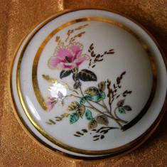 Cutiuta caseta Limoges France portelan pictat manual, colectie vintage