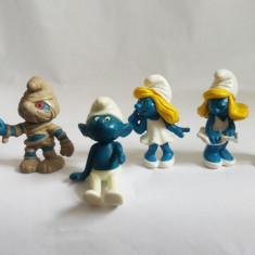Lot 6 figurine Strumfi Peyo, cauciuc, Marilyn Monroe, mumie, indian nativ - Figurina Desene animate